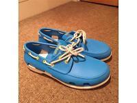 """Light Blue """"Crocs""""shoes size 9(M)"""
