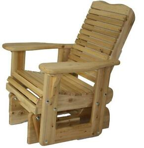 Amish/Mennonite made cedar wood glider glding rocker kit - FREE SHIPPING