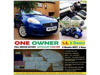 2006 (06) Fiat Grande Punto 1.2 Dynamic 5 Door LONG MOT+2KEYS! Corsa Ka Fiesta Polo Clio Yaris AYGO