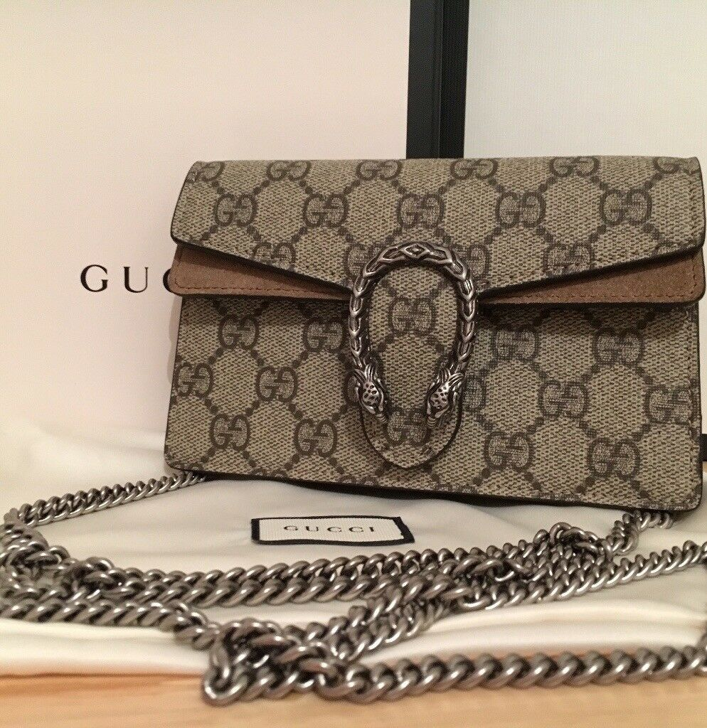 7dc9c1b1f1cc4b Gucci Bag, Dionysus GG Supreme Super Mini Bag, Brand New, 100% genuine