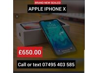 BRAND NEW SEALED IPHONE X 64G ONLY £650
