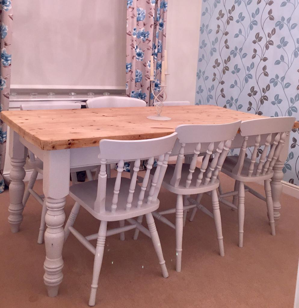 Shabby Chic Dining Room Table & Chairs
