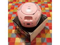 CD Radio Boombox with Apple 30 pin iPod Dock - Bush CBB31i Pink