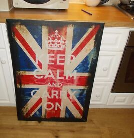 """union jack large canvas 26"""" X 36"""" ideal for boys bedroom/study"""