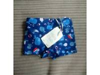 Boys age 0-3 months integrated swim nappy, brand new with tags