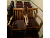 8 dining chairs including 2 carvers