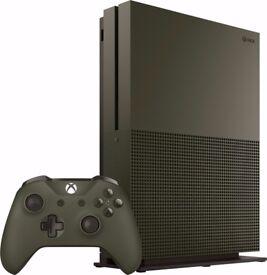 Xbox One S 1 Tb Military Green PRISTINE CONDITION
