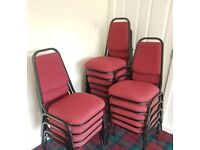 16 No. Burgundy Dining Chairs in vgc