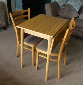 Vintage/ Retro Extending Table and Chairs - Ideal for a small kitchen