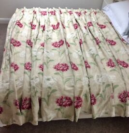 """Pair of Laura Ashley Made to Measure Heavy Lined Triple Pleat Curtains. 124""""W x 82""""D"""