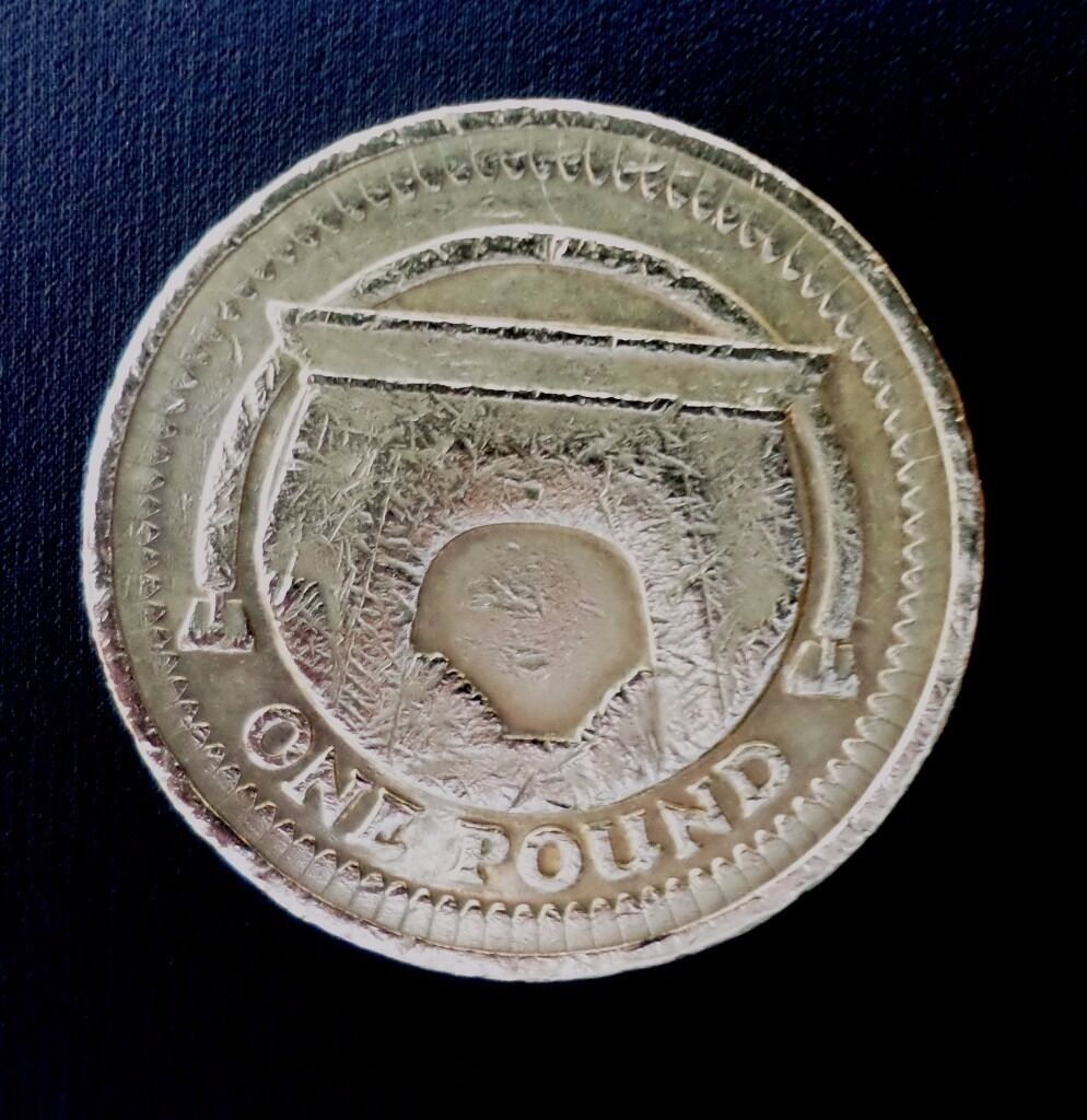 one pound coin egyptian arch