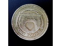 2006 Mis-Printed £1 coin Egyptian Arch Railway Bridge Rare One Pound coin