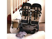 Bugaboo Donkey Duo/Double with side basket.