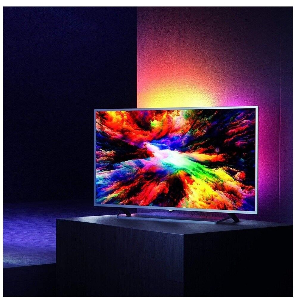 3eceaa521a2fb  BRAND NEW  Philips 65PUS7303 12 65-Inch 4K Ultra HD Android Smart TV HDR +  Ambilight (2018)