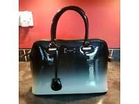 Paul's Boutique Black Patent Ombre Handbag