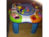 Kids activity table with train