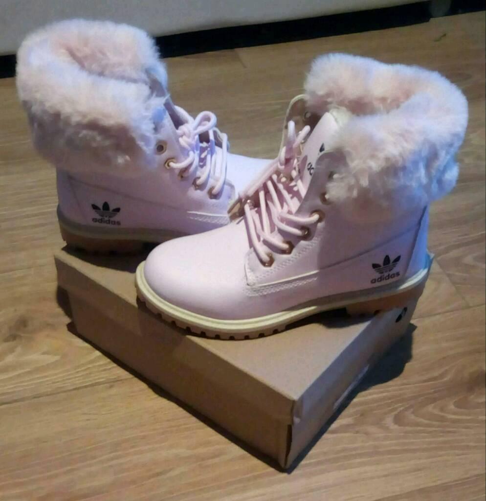 fa7c8ba6dcb5 Ladies Girls Pink Adidas Boots