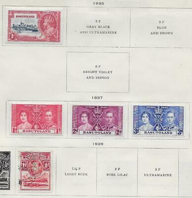 5 Basutoland Stamps from Quality Old Antique Album 1935-1937