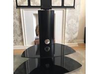 Black Glass TV stand (mounting TV)