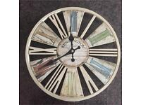 Old Style Wood Effect Clock