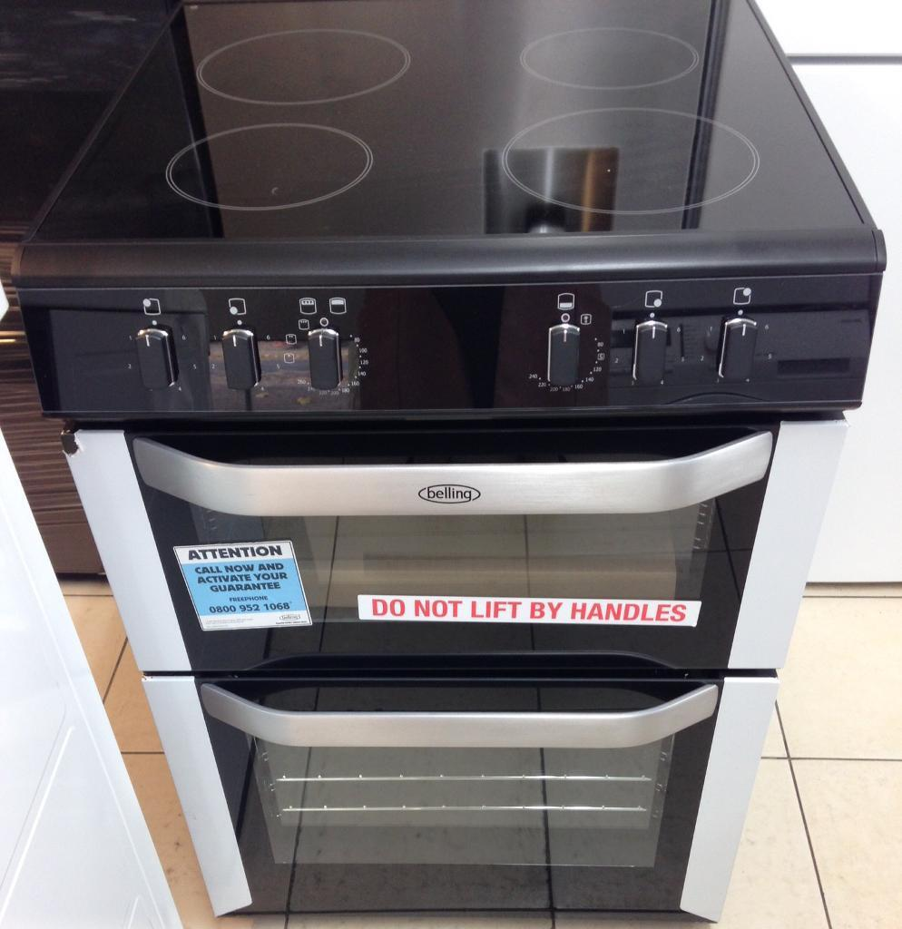 NEW Belling 60cm wide electric cooker for SALE with 1 year warrantyin Chingford, LondonGumtree - NEW, NEVER BEEN USED Belling BELFSE60DO1 year manufacturers guaranteeDouble oven cooker with grillFan assisted main oven Easy clean enamel oven liners Energy rating A Viewing window Interior light Colour Stainless steel and black Dimensions (mm) H...