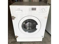 DIGITAL SMEG INTEGRATED WHITE WASHER DRYER WITH WARRANTY & FREE DELIVERY