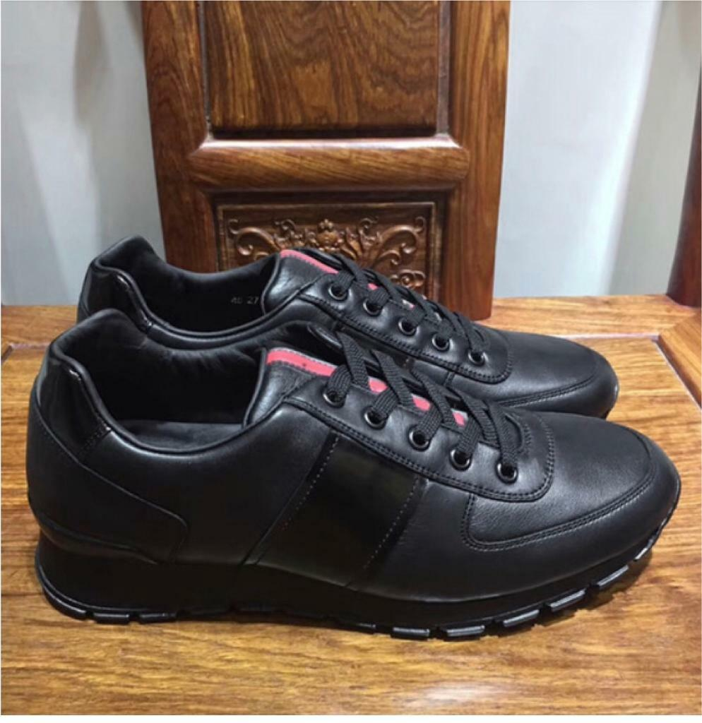 size 40 14d7f e91ec GUCCI BLACK LEATHER MENS CASUAL DESIGNER TRENDY FASHION SHOES IN SIZES 6-10