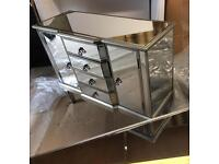 NEW BOXED MIRRORED SIDEBOARD ,