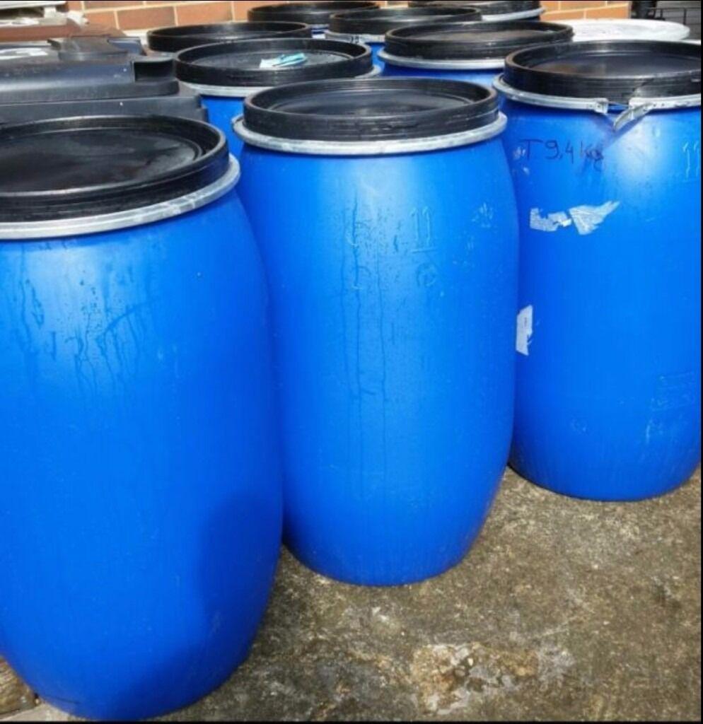 plastic blue barrels for sale 220litres