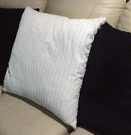 3 large cushions