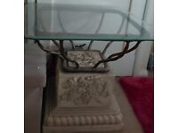 Gorgeous glass table for sale