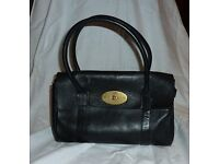 GENUINE MULBERRY BAYSWATER HANDBAG IN BLACK LEATHER - GOOD CONDITION