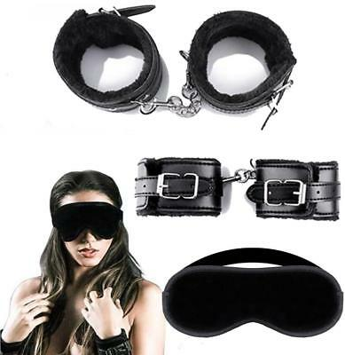 CurveBay Soft Fur Leather Cuffs and Soft Eye Mask For Female and Male Couples](Masquerade Costume For Female)