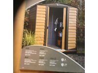 8x6 Woodvale Apex Metal Shed. New.Flatpack. PICK UP TODAY..