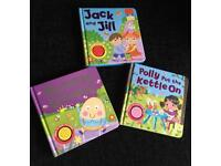 3 musical nursery rhyme sound books