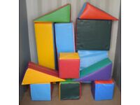 Soft Play Shapes Set - 12 Large Shapes + Carry Bag - Very Good Condition
