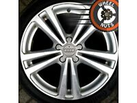 """18"""" Genuine Audi A3 S Line alloys Golf Caddy excel cond Continental tyres."""