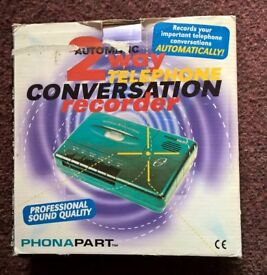 Automatic PhonaPart 2 Way Telephone Conversation Recorder.