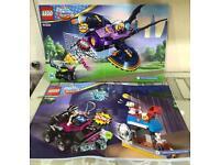 """LEGO 41230 """"Batgirl Batjet Chase"""" set and LEGO 41233 """"Lashina Tank"""" set"""