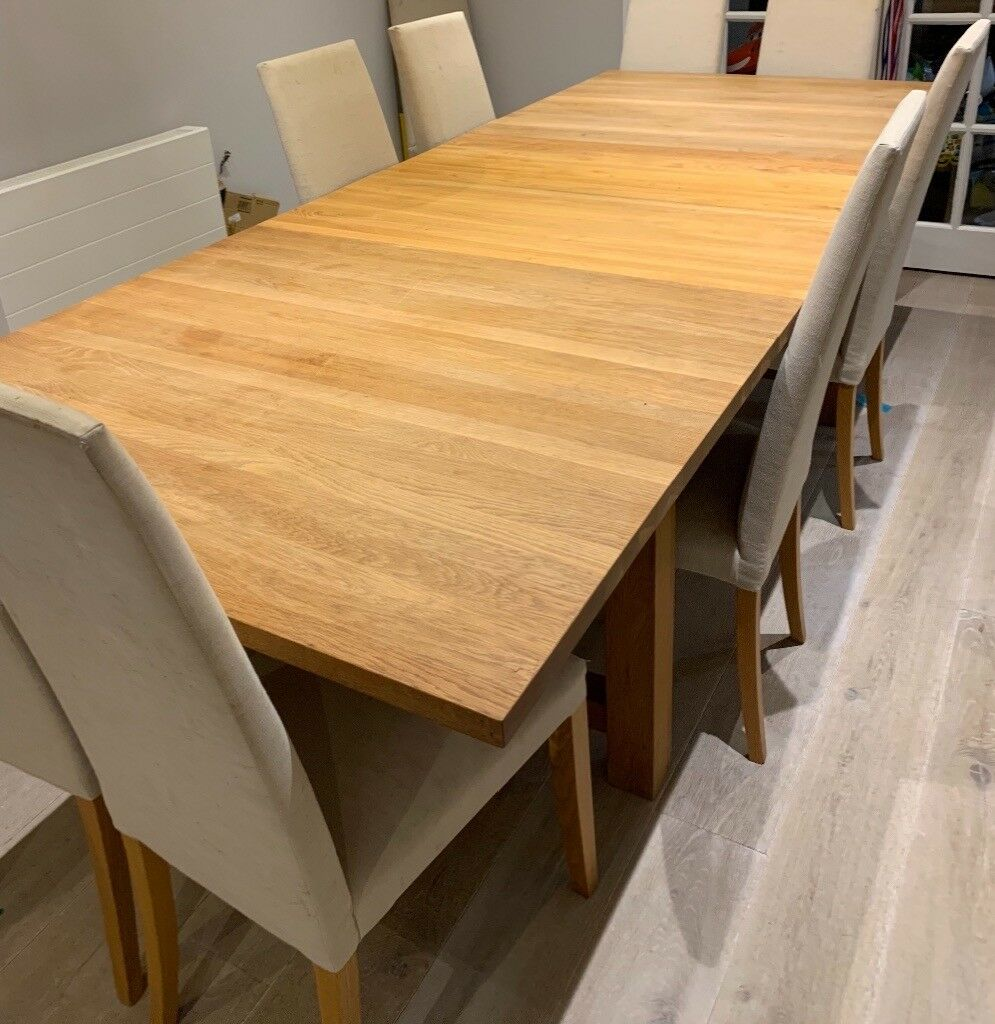 huge selection of 20a84 3a978 Heals Solid Oak Extending Dining Table & 10 oak leg chairs from Heals | in  Hendon, London | Gumtree