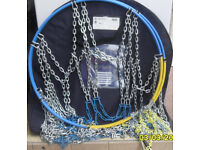 SNOW CHAINS NON SKID CHAINS MERCEDES MANUFACTURE NEW FITS 255/65 16 AND 255/60 17