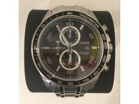 GENUINE !!!!!!!!!!!!! BRAND NEW......MENS CITIZEN ECO-DRIVE TITANIUM CHRONOGRAPH WATCH CA0340-55E