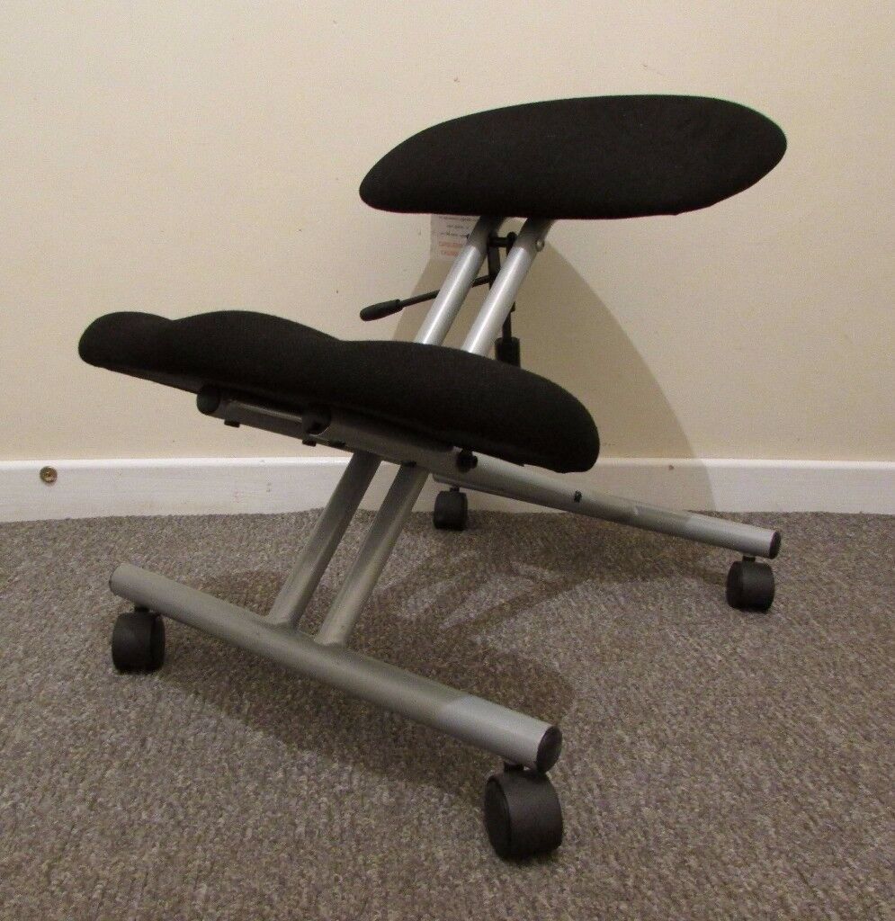 Kneeling stool posture chair ergonomic adjustable height on caster wheels FREE DELIVERY WITHIN LE