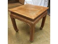 Hardwood Coffee Table, Curved Legs, Solid Wood