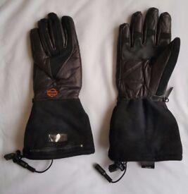 Harley-Davidson® Women's Dual-Source Heated Gauntlet Leather Gloves - 98231-12VW