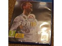 Fifa 18 ps4 new and sealed