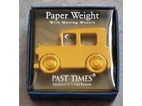 GOLD COLOUR CAR PAPERWEIGHT by Past Times - BNIB