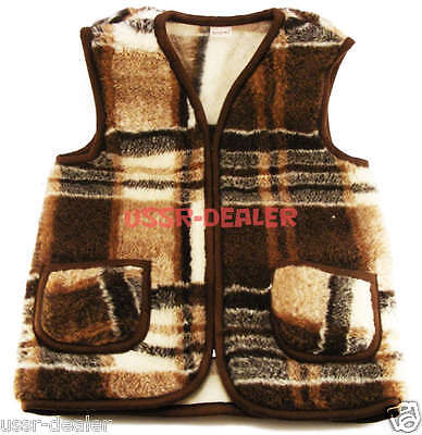 NATURAL MEN'S SHEEP WOOL VEST JACKET BOLERO PURE 100%](Mens Bolero Jacket)