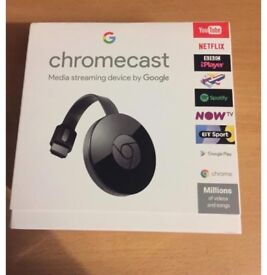 Google chrome cast Boxed and sealed ( unopened ) with 3month now TV movie pass