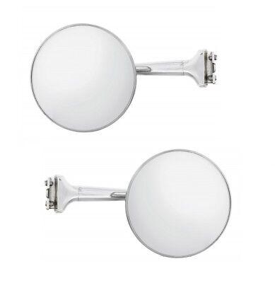 "4"" STRAIGHT ARM Peep Mirror Outside Side Rearview Door Frame Hot Street Rod Pair"